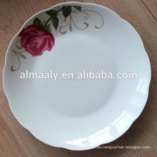 placa de fruta blanca de porcelana fina, plato de cena