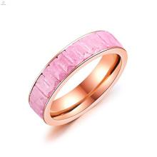 Rose Gold Rechteck Crystal Band Engagement Hochzeit Baguette Ring