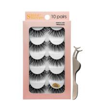 mink eyelashes 10 pairs natural thick eyelashes Tweezers lash kit private label eyelashes wholesale