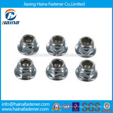 Stock Stainless Steel Nylon Lock Flange Nut