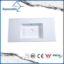 Simple Design Bathroom Polymarble Counter Sink Basin