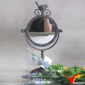 Kleine Dressing Metall Eingerahmt Französisch Vintage Spiegel