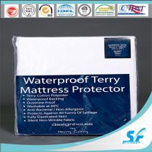 Máquina lavável Terry impermeável Anti Bacterias Colchão Protector