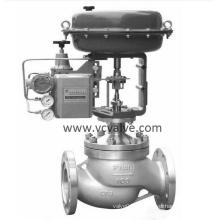 Válvula de control de globo neumático de un solo puerto