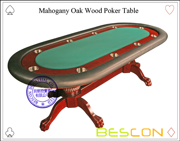Mahogany Oak Wood Poker Table