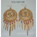Fashion Tassel Earring with Metal for Fashion Lady