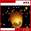 lanterna chinesa do céu biodegradável promocional e tradicional com papel fireretardant e fireproofed