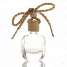 Botella vacía del ambientador de aire del coche 10ml que cuelga clara con el casquillo de madera