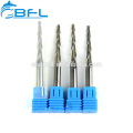 2 Flutes Taper Ball Nose End Mill