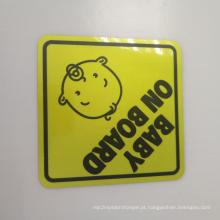 Etiqueta reflexiva feita sob encomenda do bebê do ímã a bordo do carro