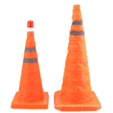 Reflective Traffic Warning Collapsible Cone with LED Warning Light, Foldable Traffic Safety Cone