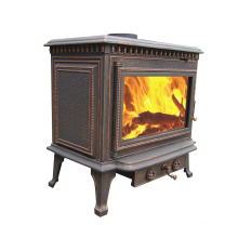 Old Brass Antique Cast Iron Woodburning Stove