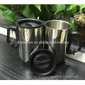 Stainless Steel Travel Coffee Mug with Handle (CL1C-M102)