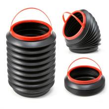 4L waterproof round dustbin recycling portable outdoor automotive trash can foldable mini car trash bin