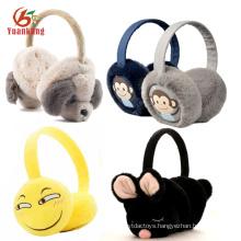 Custom Cheap Soft Plush Flower/Fashion /Yellow Cartoon Emoji/Girls/Sport/Kids Earmuffs Winter Ear Muffs