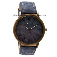 Antique Analog Promotion Quartz Gift Watch avec bande en cuir