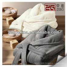 wholesale 100% cotton velour long elegant couple bathrobe