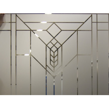 Frosted Glass Partitions Deep Acid Etched Glass Opaque Laminated Glass