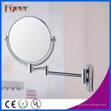 Fyeer Fashion Round plegable espejo de maquillaje Decrative Mirror Wall