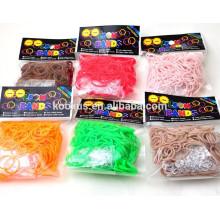 Glitter rubber bands
