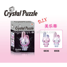 Popular DIY crystal 3D jigsaw puzzle Rabbit 38PCS with light