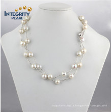 9-11mm AA Edison Pearl Necklace with Silver Chain