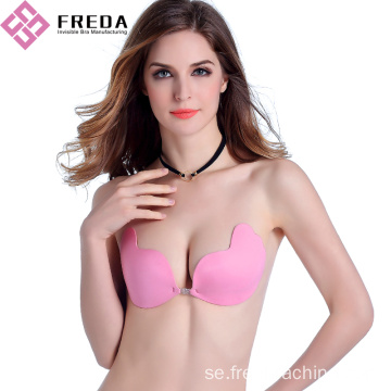 Fashion Mango Front Closure Sticky Stropless Bra