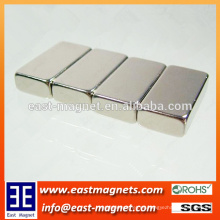 Imán del neodimio del motor del bloque del alto rendimiento / níquel plateó el imán del bloque para la venta