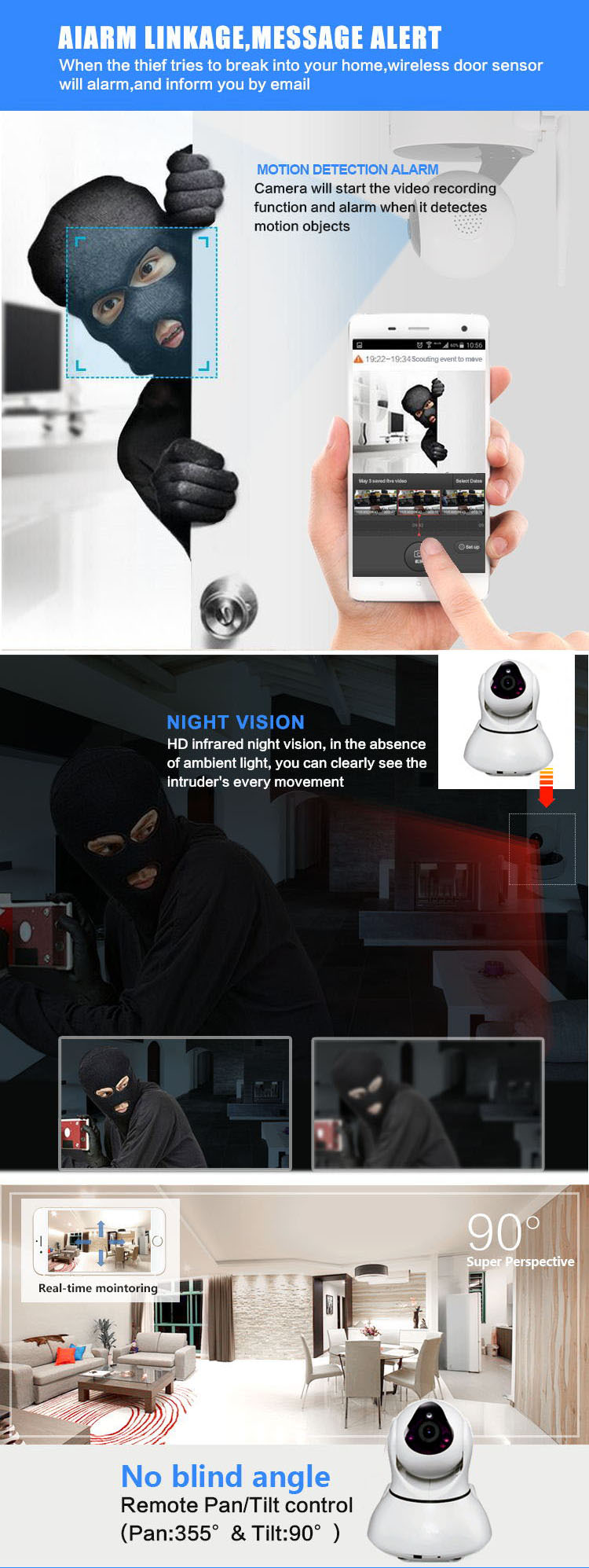 night vision ip camera