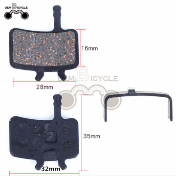 High-grade resin semi-metal brake pad for bicycle
