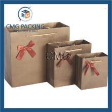 High Quality Shopping Paper Bags Coffee Color Gift Bag