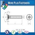 Fabriqué en Taiwan ISO 7046 Philips Tête plate Cartoné 4e année 8 Acier au carbone Zingué