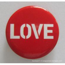 Sérigraphie Print Tin Button Badge for Love (badge bouton-42)
