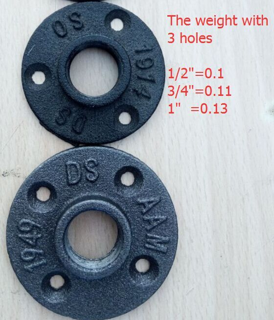 black pipe malleable floor flange 3/4