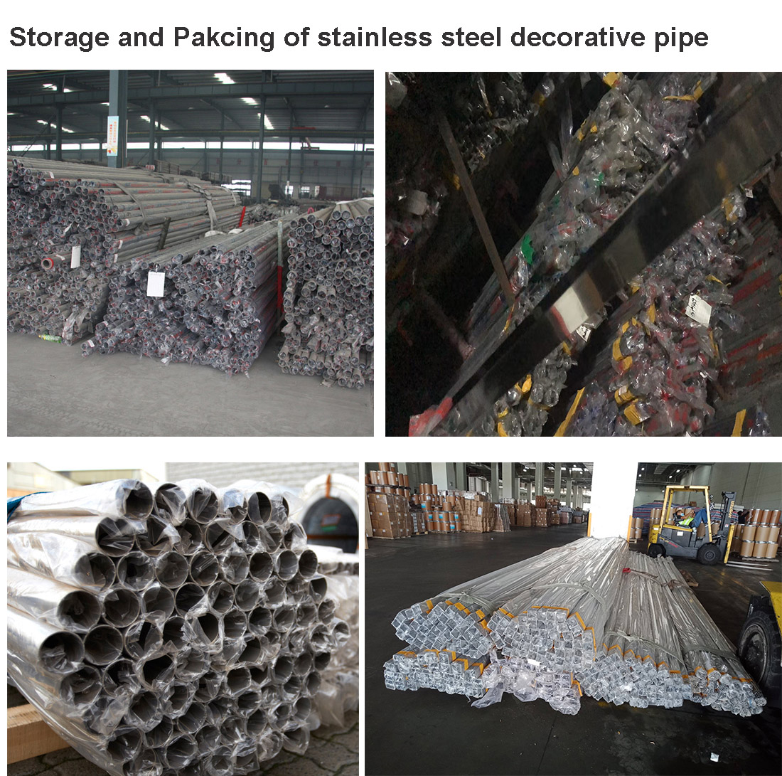 store and packing of stainless steel decorative pipe