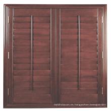 Persianas de madera de la persiana de la madera de la plantación hechas en China