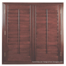 Manufacture Direct Natural Timber Plantation Door Louver Shutters