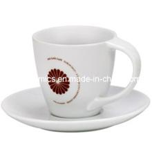 Bend Mango Taza de café y Placa