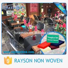 Toalha de mesa baixa da compra de MOQ para a toalha de mesa das cortinas do partido / cozinha