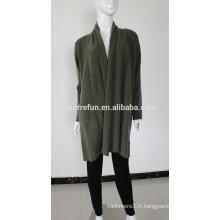 vente en gros dame long style cachemire tricoté cardigan lourd