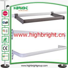 Acero tubo Metal colgante acero barra soporte para estantes