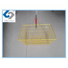 Bunter China-Gebildeter Metalleinkaufskorb für Verkauf