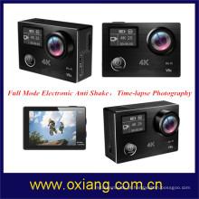 Time-lapse fotografia esporte câmera anti-vibração 4K WFi ação câmera