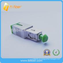 SC Atenuador de fibra óptica con pulido APC