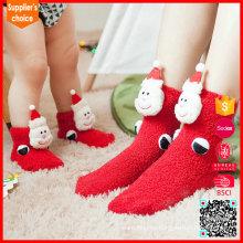 2017 La nueva manera calienta caliente chidren los calcetines de la Navidad de los cabritos