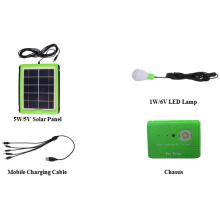 Kit de Iluminação Solar 3.7V8000mAh Bateria Li-ion
