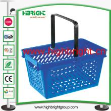 Supermarkt-Plastikhandeinkaufskorb für Gemischtwarenladen
