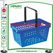 Supermarket Plastic Hand Shopping Basket for Grocery Store