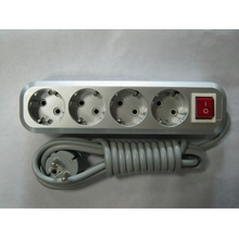 European Socket ABS Material With Switch E4114B Silver Gray Colour