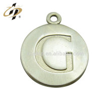 Hot sell custom logo zinc alloy silver alphabet lettering charms